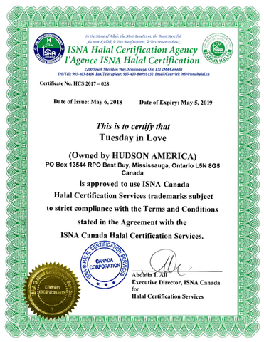 Tuesday in Love Halal Certification
