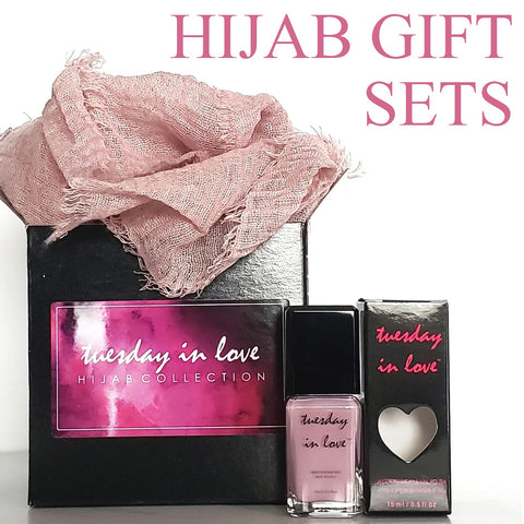 eid gifts hijab and halal nail polish gift set