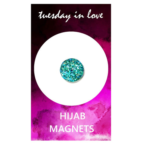 Aqua Jewel Hijab Magnets