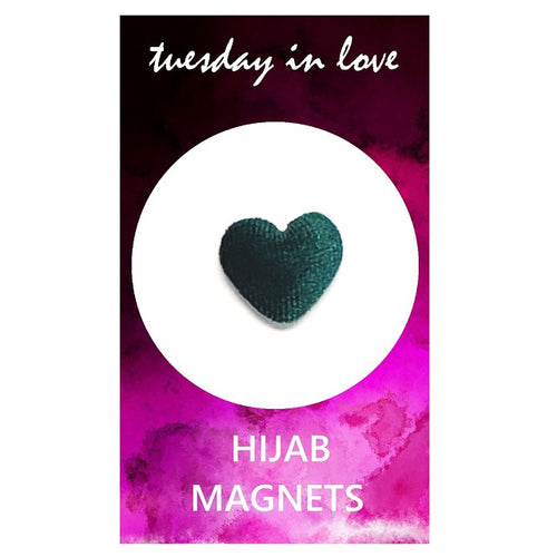 Dark Green Heart Hijab Magnets