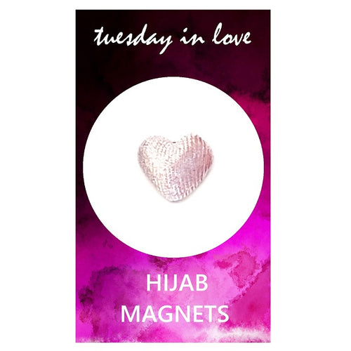 Light Pink Heart Hijab Magnets