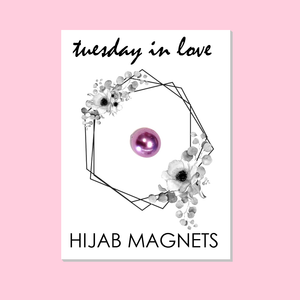 Pink Hijab Magnets