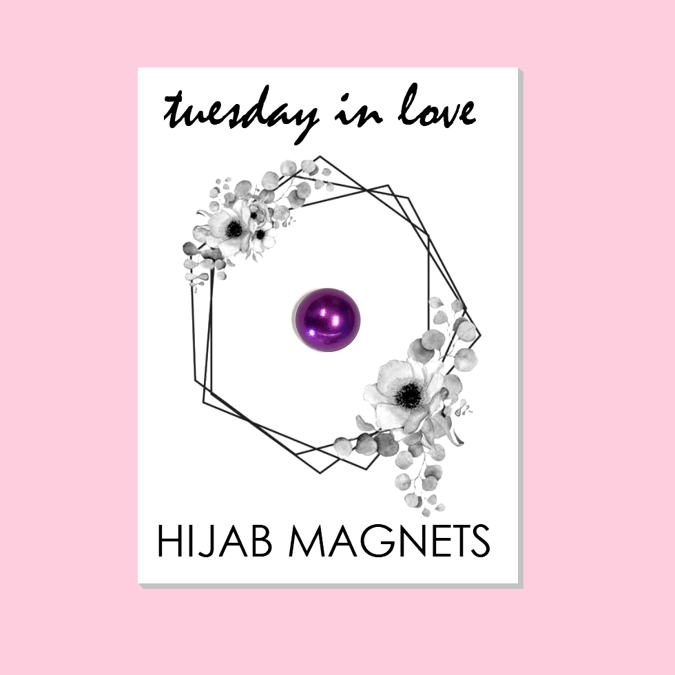 Purple Hijab Magnets