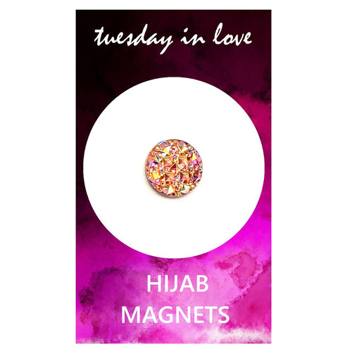 Pink Jewel Hijab Magnets