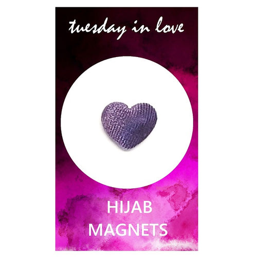 Purple Heart Hijab Magnets
