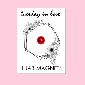 Red Hijab Magnets