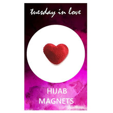Red Heart Hijab Magnets