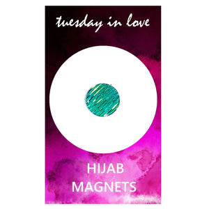 Aqua Sparkle Hijab Magnets