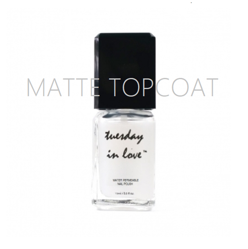 Matte Topcoat - Tuesday in Love Halal Nail Polish & Cosmetics