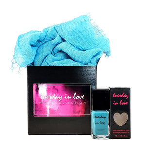 Ice Ice Habibi Hijab Gift Set - Tuesday in Love Halal Nail Polish & Cosmetics
