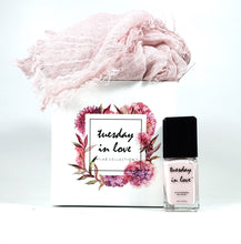 Summer Crush Hijab Gift Set - Tuesday in Love Halal Nail Polish & Cosmetics