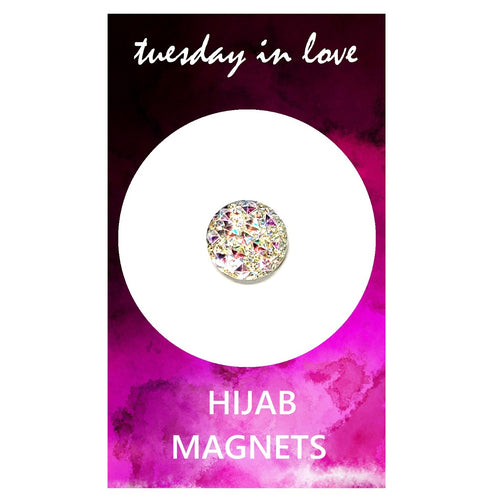 White Jewel Hijab Magnets