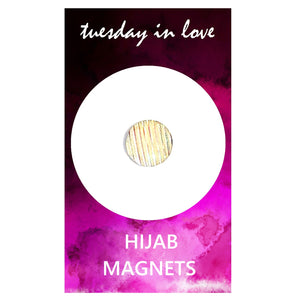 White Sparkle Hijab Magnets