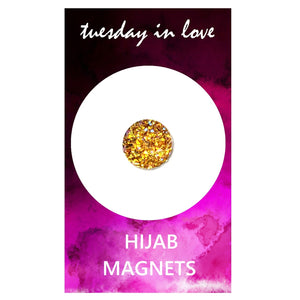 Yellow Jewel Hijab Magnets