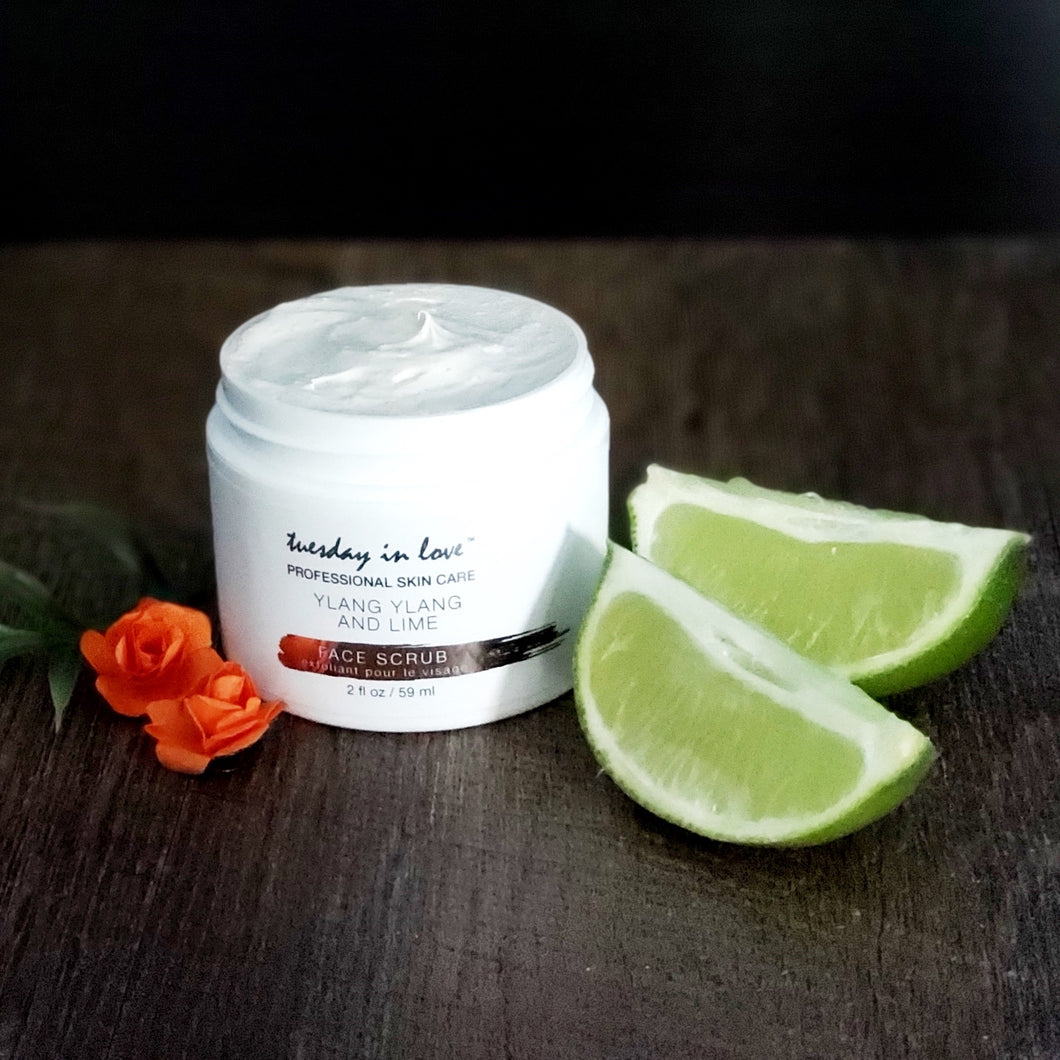 Ylang Ylang and Lime Face Scrub - Tuesday in Love Halal skin care