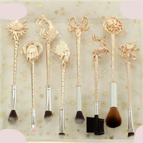 5 style 8pc Game of Thrones Makeup Brushes