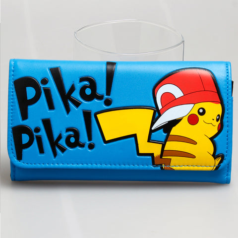 Pokemon Pikachu Blue Long Wallet