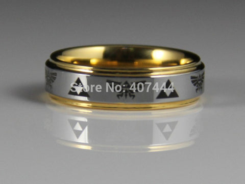 Legend of Zelda Theme Ring 6MM Gold/ Silver