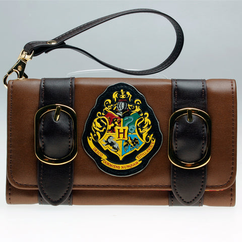 Harry Potter Hogwarts Crest Double Buckle Fold Wallet