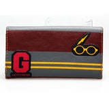 Harry Potter Platform 9 3/4 Hogwarts Patch Long Clasp Wallet