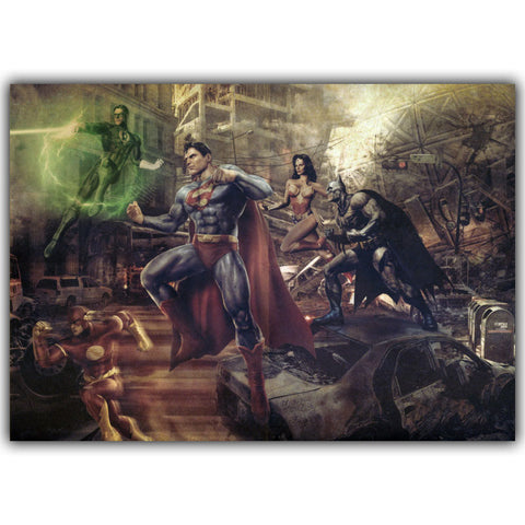 Retro Classic Comics Justice League Silk Poster