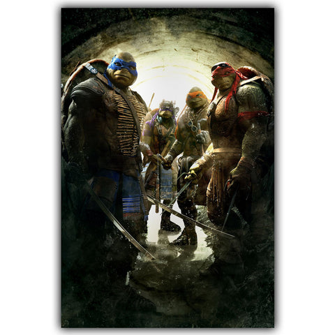Silk Canvas Print Movie Poster- Teenage Mutant Ninja Turtles