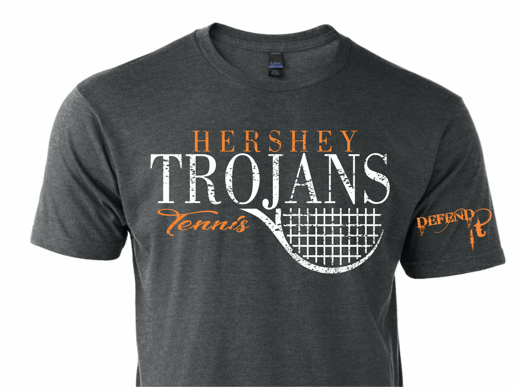 Hershey Trojans Distressed Flag Tee