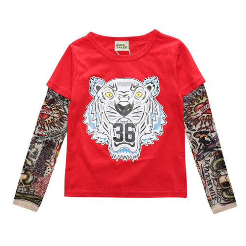 Tiger Baby Tattoo Long-Sleeve - Jantors