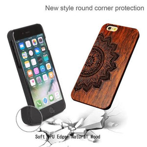 Natural Wood Phone Case - Elephant Design