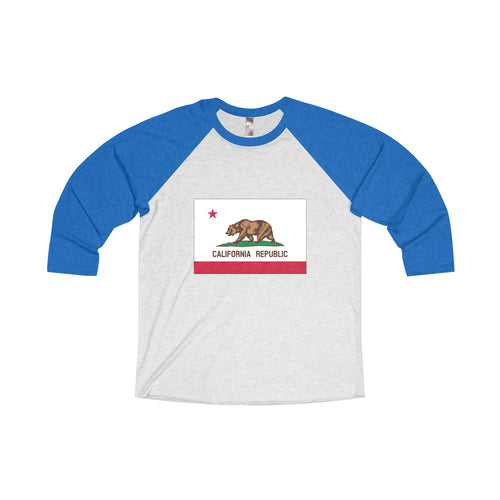 California Flag Tri-Blend Unisex Shirt
