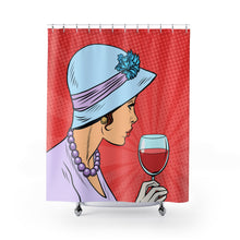 Red Wine Lover Shower Curtain