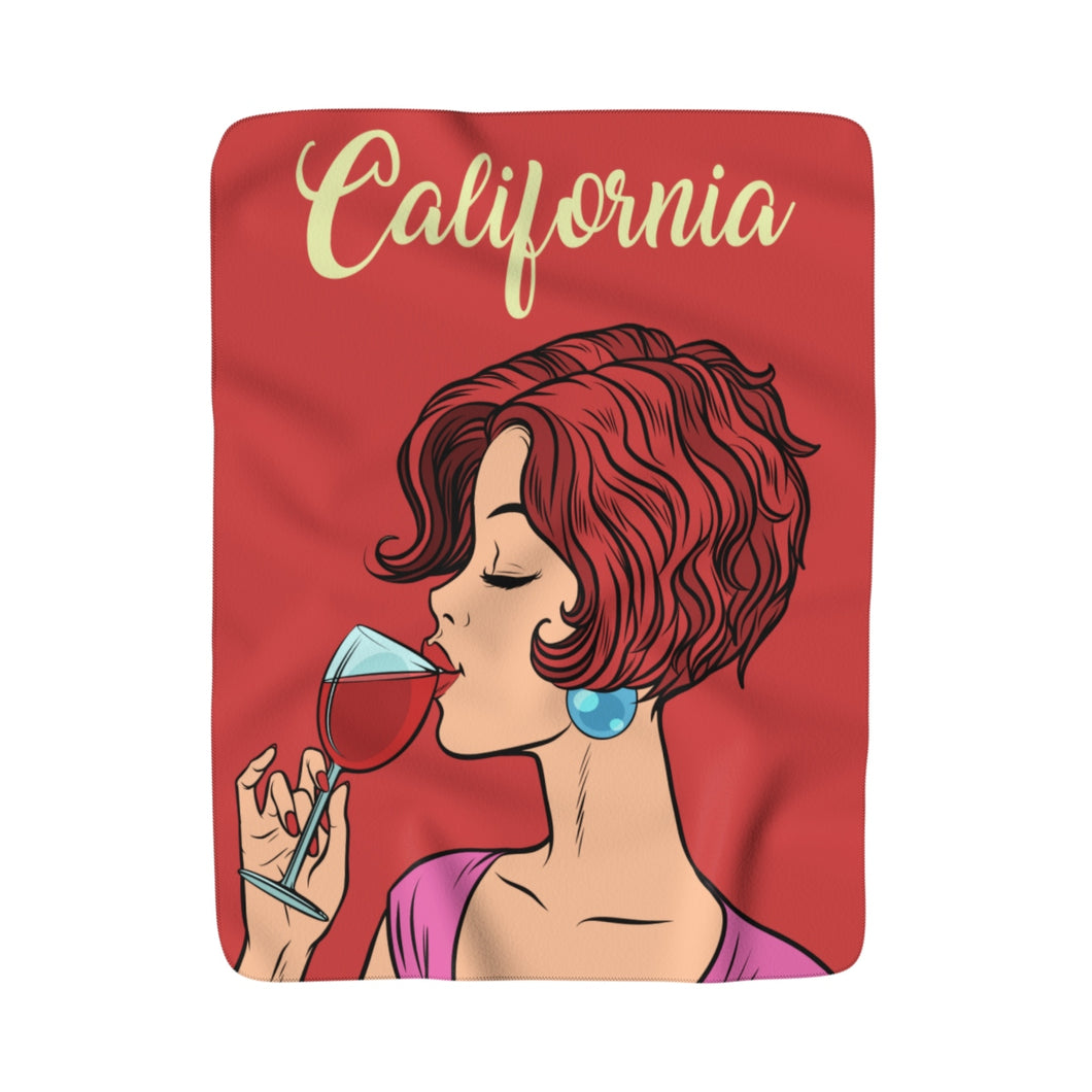 Love of Wine Fleece Blanket