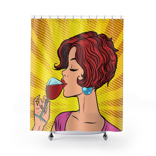 Love of Wine Shower Curtain