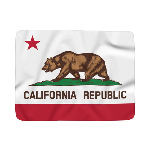 California Flag Fleece Blanket