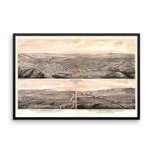 1877 View of Los Angeles Framed Poster