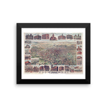 1891 Los Angeles Vintage Map Framed Poster