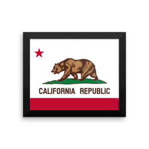 California State Flag Framed Poster