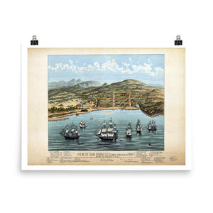 1846-7 View of San Francisco Vintage Poster