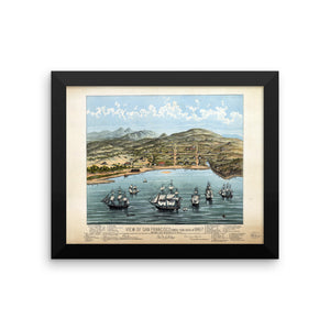 1846-7 View of San Francisco Framed Poster