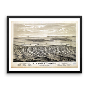 1876 View of San Diego Framed Poster