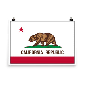 California State Flag Poster