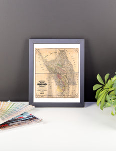 1876 County of Napa Framed Poster