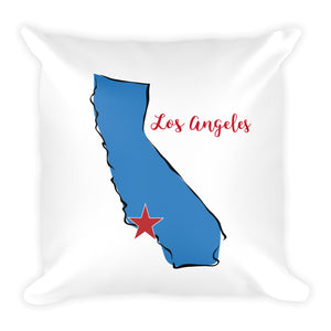 Los Angeles Square Pillow