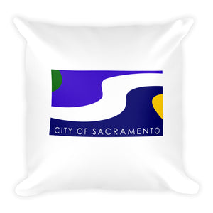 Sacramento Flag Square Pillow