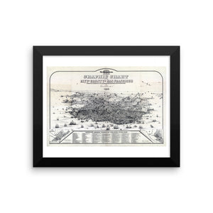 1875 San Francisco Vintage Map Framed Poster