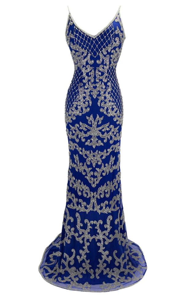 Paul Rekhi 1001 Dress Royal-Blue