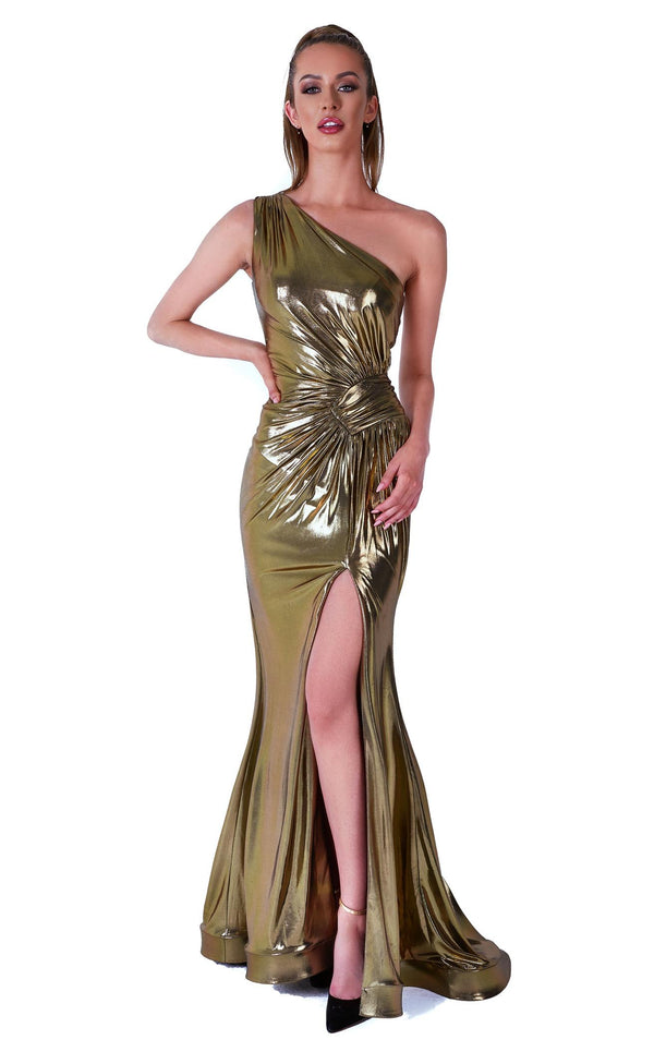 Evaje 10034 Dress Dark-Gold