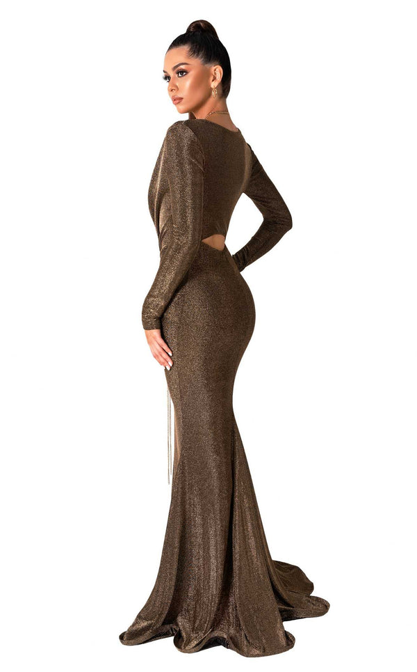 Evaje 10035 Dress Dark-Gold
