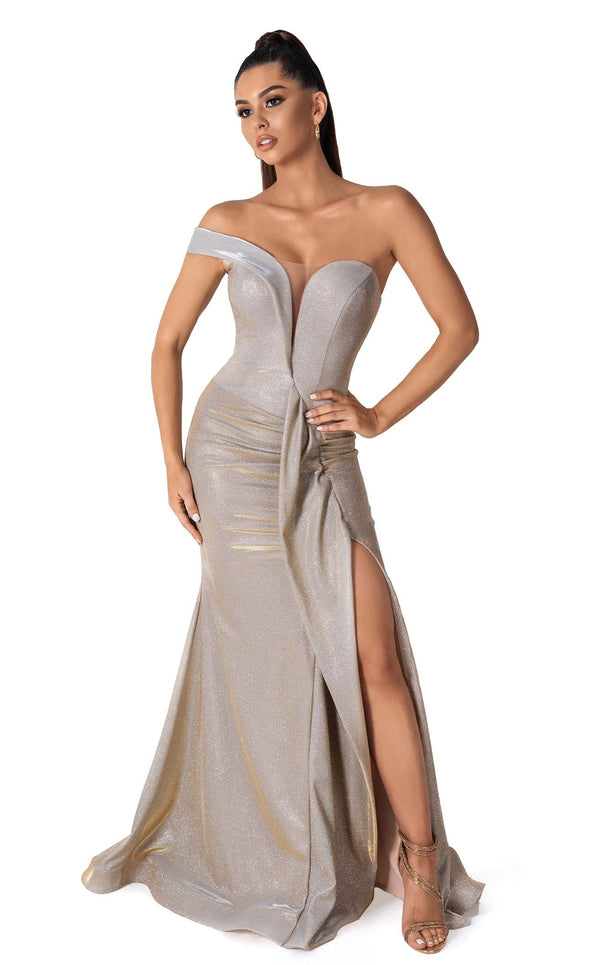 Evaje 10036 Dress Champagne-Gold