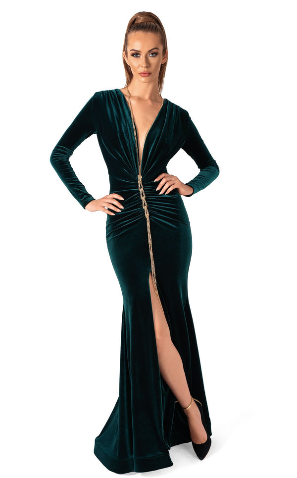 Evaje 10045 Dress Emerald